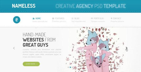 Nameless - Creative Agency PSD Template - Creative Photoshop