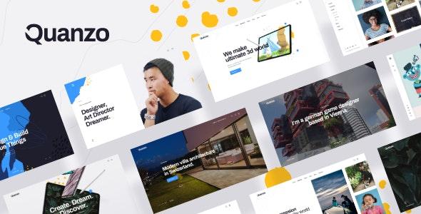 Quanzo - Personal Portfolio WordPress Theme - Portfolio Creative