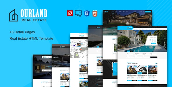 Ourland - Real Estates HTML Template - Business Corporate