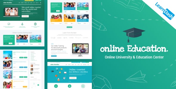 Education Center | LMS Online University & School Courses Studying WordPress Theme - Education WordPress
