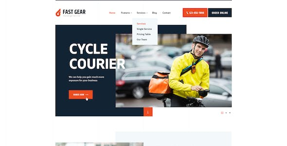 Fast Gear | Courier and Delivery Services Transportation WordPress Theme