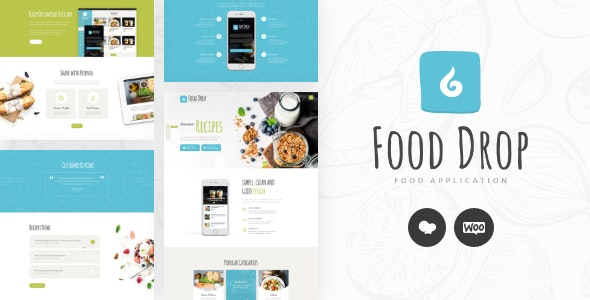 Food Drop | Meal Ordering & Delivery Mobile App WordPress Theme - Food Retail