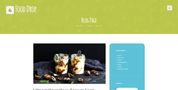 Food Drop | Meal Ordering & Delivery Mobile App WordPress Theme