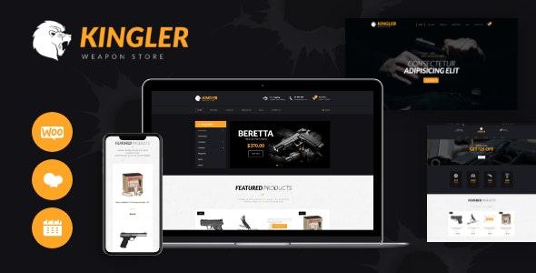 Kingler | Weapon Store & Gun Training WordPress Theme - WooCommerce eCommerce