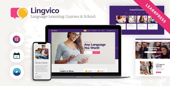Lingvico | Language Center & Training Courses WordPress Theme - Education WordPress