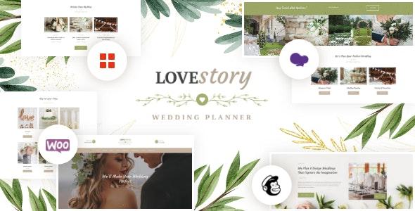 Love Story   A Beautiful Wedding and Event Planner WordPress Theme - Wedding WordPress