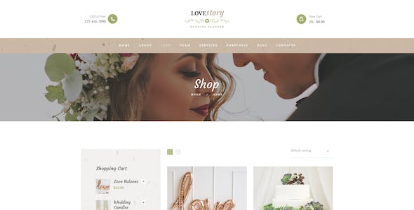 Love Story | A Beautiful Wedding and Event Planner WordPress Theme