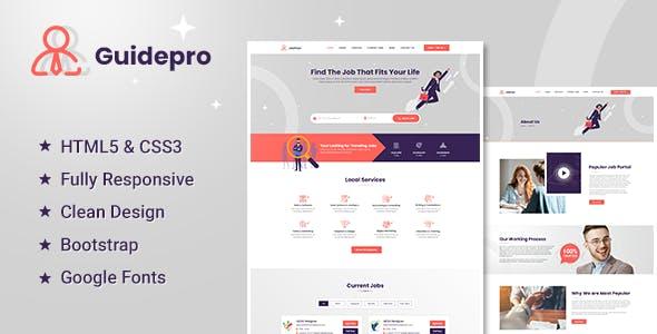 Guidepro - Job Portal HTML5 Template