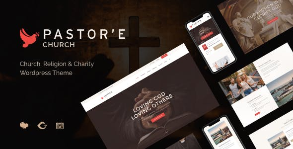 Pastor'e   Church, Religion & Charity WordPress Theme
