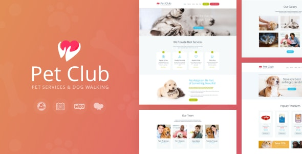 Pets Club - Pet Shop & Breeding Veterinary WordPress Theme - Retail WordPress