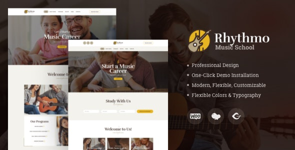 Rythmo | Arts & Music School WordPress Theme - Education WordPress