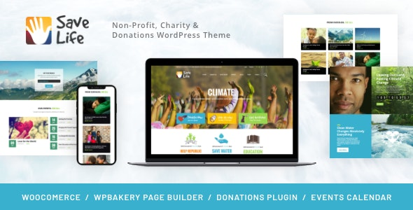 Save Life | Non-Profit, Charity & Donations WordPress Theme - Charity Nonprofit