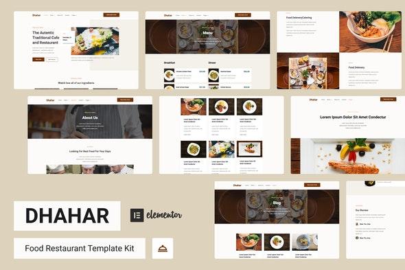 Dhahar - Restaurant Elementor Template Kit - Food & Drink Elementor