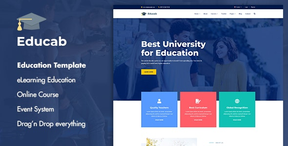 Educab - University Education Joomla Template - Business Corporate
