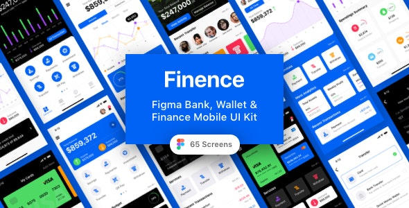 Finence - Figma Bank, Wallet & Finance Mobile UI Kit - Business Corporate