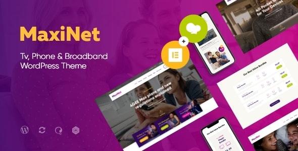 MaxiNet | Broadband & Telecom Internet Provider WordPress Theme + Elementor - Technology WordPress