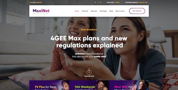 MaxiNet | Broadband & Telecom Internet Provider WordPress Theme + Elementor