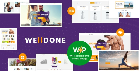 Welldone - Sports & Fitness Nutrition and Supplements Store WordPress Theme - WooCommerce eCommerce