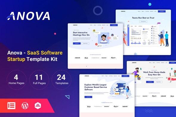 Anova - SaaS & Startup Elementor Template Kit - Technology & Apps Elementor