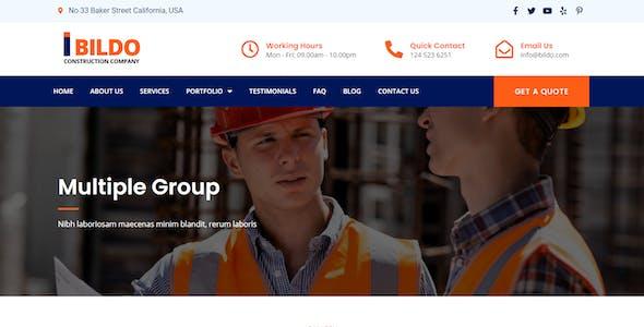Bildo - Construction Elementor Template Kit