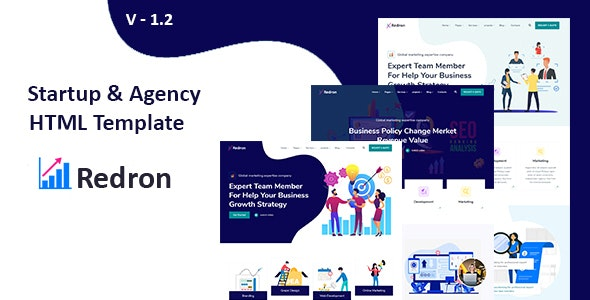 Redron - Startup &  Agency HTML template - Technology Site Templates