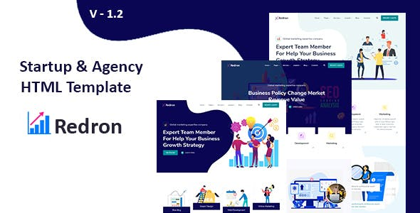 Redron - Startup &  Agency HTML template