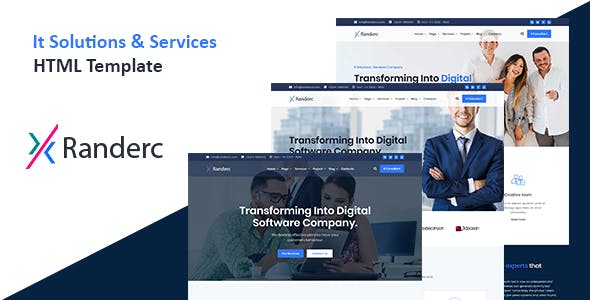Randerc - It solutions and services company HTML template