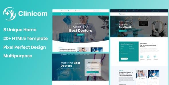 Clinicom - Medical & Health Template
