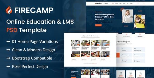 Firecamp - Education PSD Template