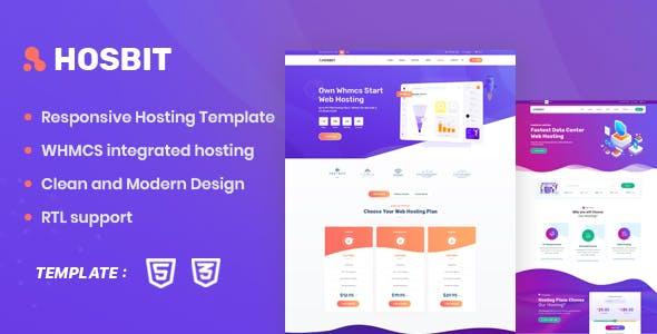 Hosbit - WHMCS & Hosting HTML5 Template