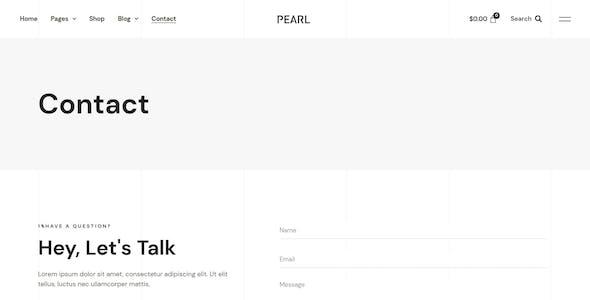 Pearl – Modern & Simple WooCommerce Store Template Kit