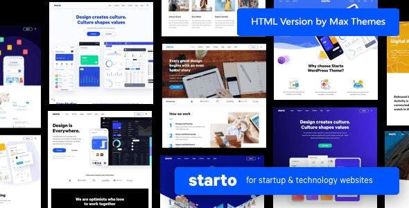 Starto | Software Startup HTML - Technology Site Templates