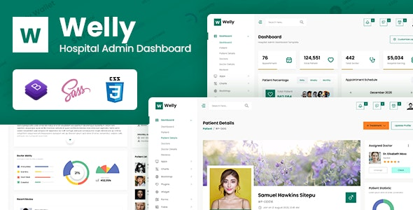 Welly - Hospital Admin Dashboard Bootstrap HTML Template - Admin Templates Site Templates