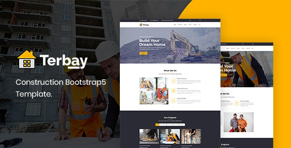 Terbay Construction Bootstrap 5 Template