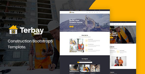 Building Company HTML Template with Responsive - Terbay
