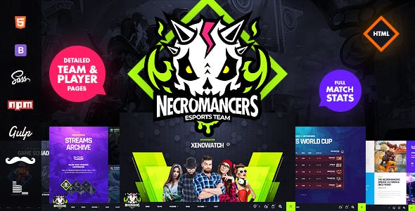 Necromancers - eSports Team HTML Template