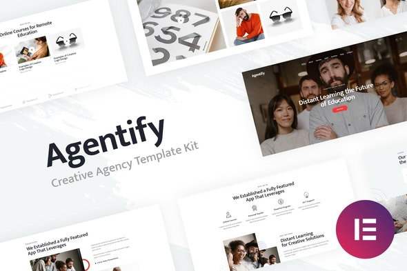Agentify | Personal Portfolio for Creatives Elementor Template Kit - Creative & Design Elementor