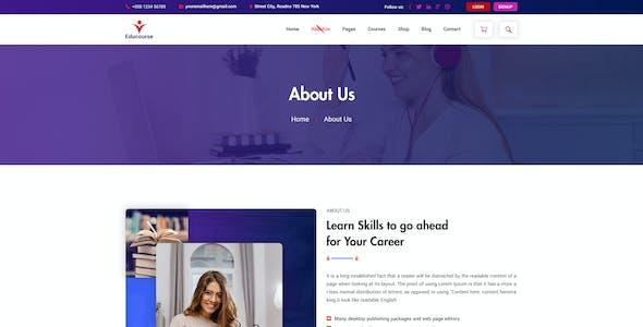 Edu course Online Course PSD template
