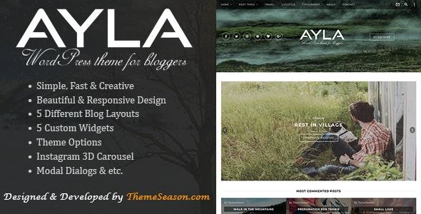 Ayla - Responsive WordPress Blog Theme - Blog / Magazine WordPress