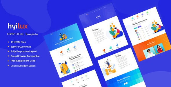 Hyilux - Investment Business HTML Template - Business Corporate