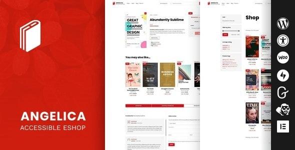 Angelica - Accessible Bookstore WordPress theme - eCommerce WordPress