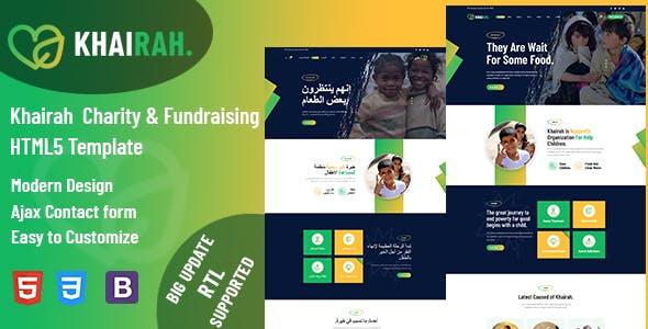 Khairah - Charity Nonprofit HTML5 Template