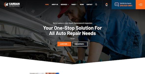 Cardan - Car Repair Services PSD Template