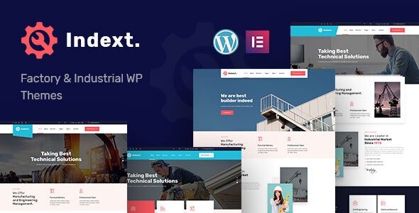 Indext - Industrial Business WordPress Theme - Business Corporate