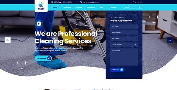 Bixol - Cleaning Services WordPress