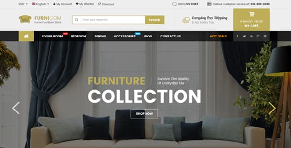 Furnicom - The Interior, Architecture and Furniture BigCommerce Theme