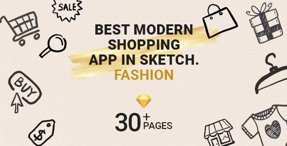 Fashion Shop Mobile App in Sketch - Fashion Retail