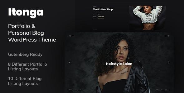 Itonga - Portfolio & Personal Blog WordPress Theme