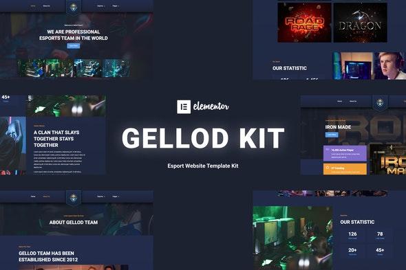 Gellod - Esport Gaming Elementor Template Kit - Sport & Fitness Elementor