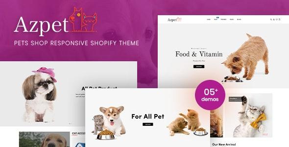 Azpet - Pet Food Shop Responsive Shopify Theme - Shopify eCommerce